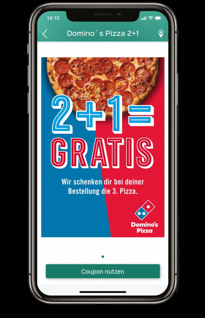 Rabatt-Gutschein von Domino´s Pizza.